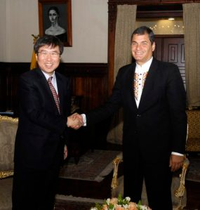 Audiencia Presidente Rafael Correa con el Eco. Ha Joon Chang.