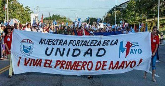 CUBA- REAFIRMACIÓN REVOLUCIONARIA EN LAS TUNAS ESTE PRIMERO DE MAYO